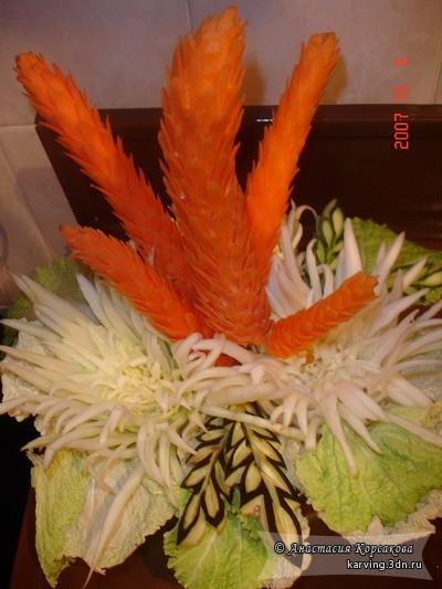 Композиция из моркови своими руками 41